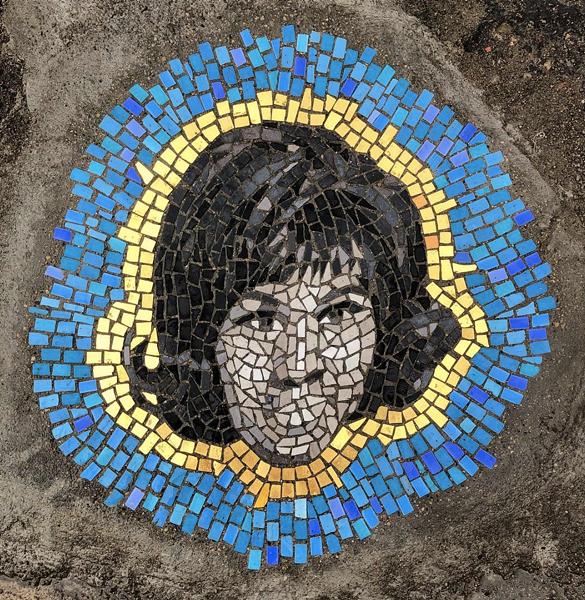 """Aretha Franklin"" mosaic located at Rivard and Adelaide. - JIM BACHOR"