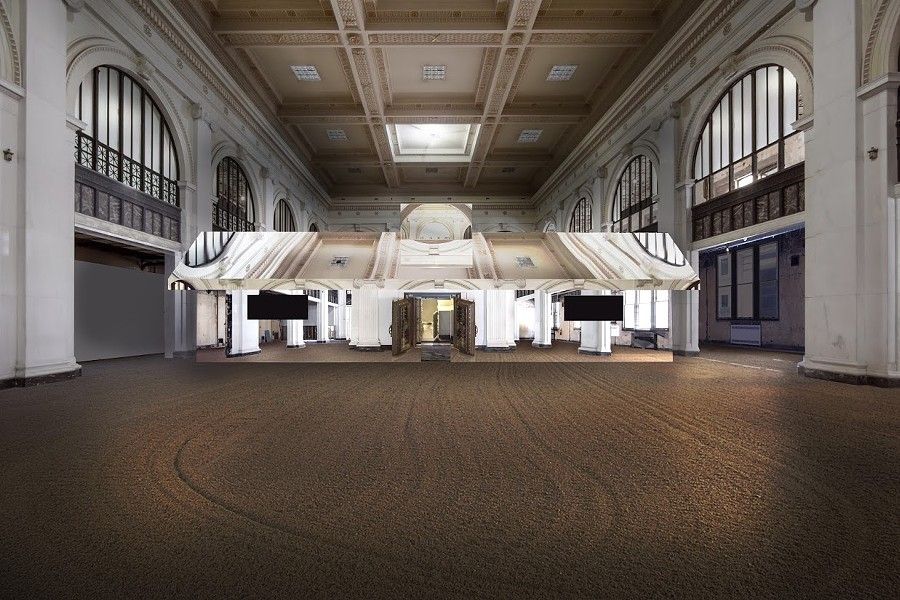Doug Aitken: Mirage Detroit (Rendering), 2018 - Courtesy of the artist and Library Street Collective. Photo by Doug Aitken Workshop.