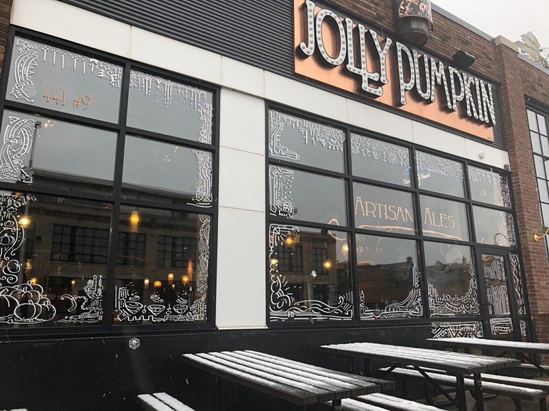 Midtown's Jolly Pumpkin is a participant in the second annual Holiday Window Walk. - COURTESY OF PROLOGUE DETROIT