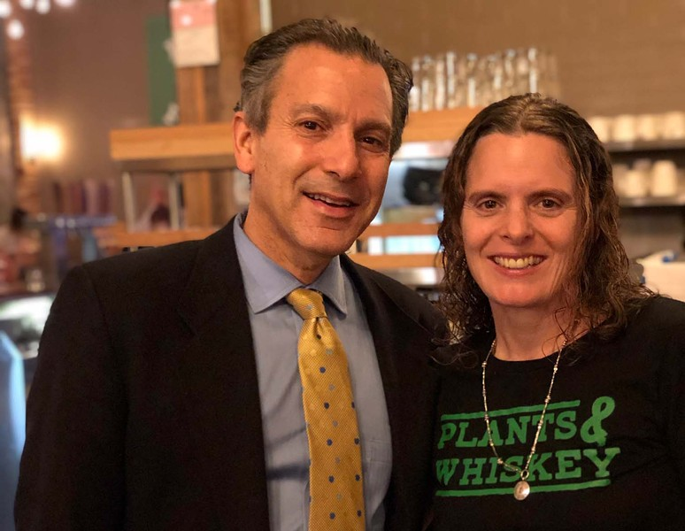 GreenSpace co-owner Dr. Joel Kahn and Amber Poupore. - COURTESY PHOTO