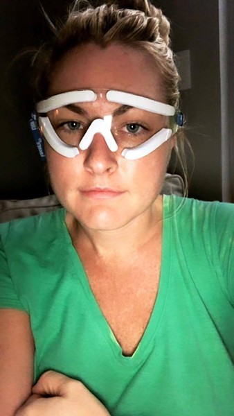 """""""Lasik SMILE went well! Still foggy vision but I can SEE!"""" reads Jessica Starr's caption posted on Oct. 12. - VIA FACEBOOK"""