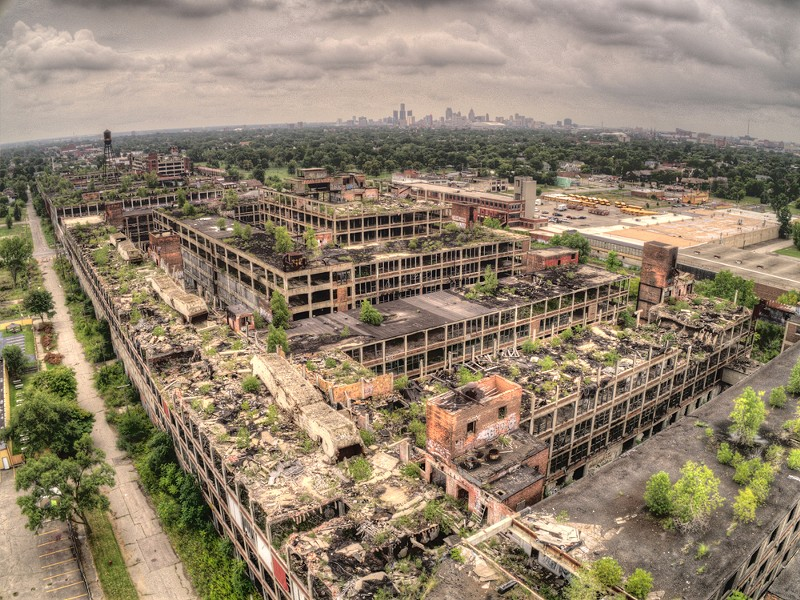 Aerial view of the Packard Plant. - JACOB BOOMBSA/SHUTTERSTOCK