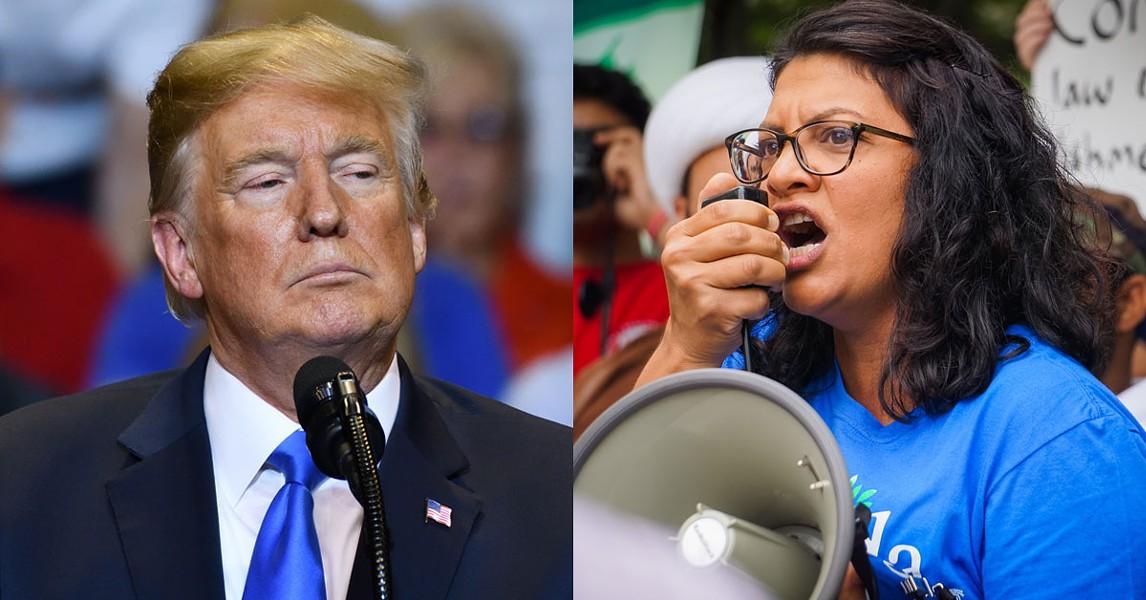 It's Trump vs. Tlaib. - EVAN EL-AMIN, STEPHANIE KENNER, SHUTTERSTOCK.COM