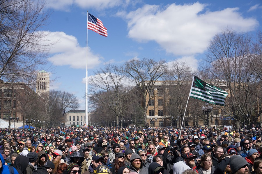 April's Hash Bash in Ann Arbor does not involve corned beef. - MICHAEL CHARTER
