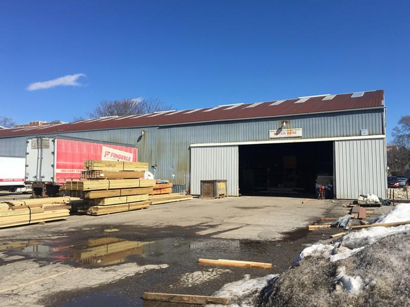 Fingerle Lumber's warehouse on Fifth St. in Ann Arbor. - ANDREW HIYAMA