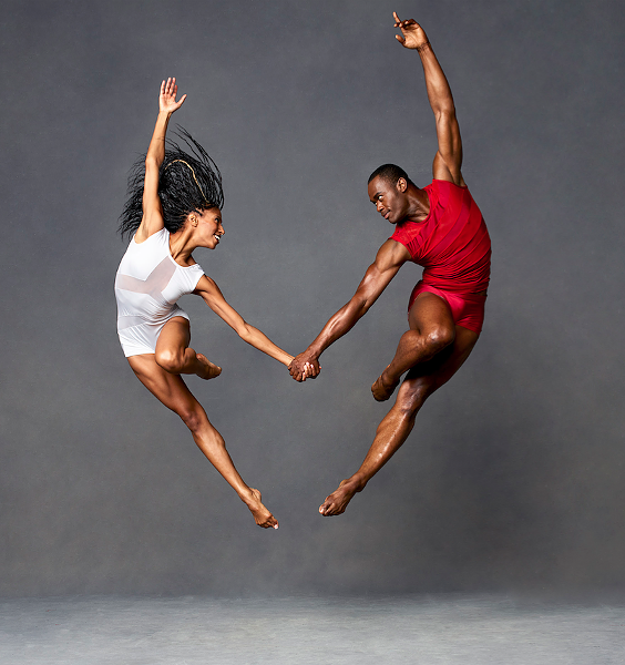 Alvin Ailey American Dance Theater's Jacqueline Green and Jamar Roberts. - PHOTO BY ANDREW ECCLES