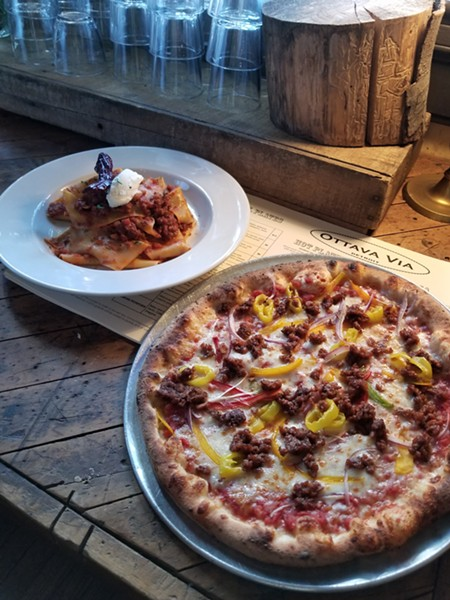 Salsiccia pizza with and ragout. - COURTESY PHOTO