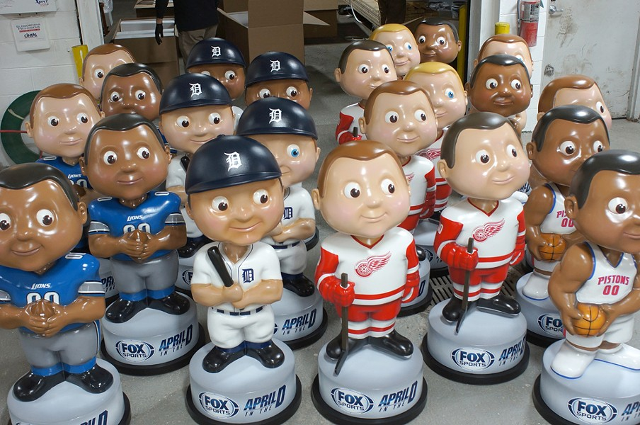 By the end of the April in the D campaign, things were getting big-headed. - COURTESY OF THE DISPLAY GROUP