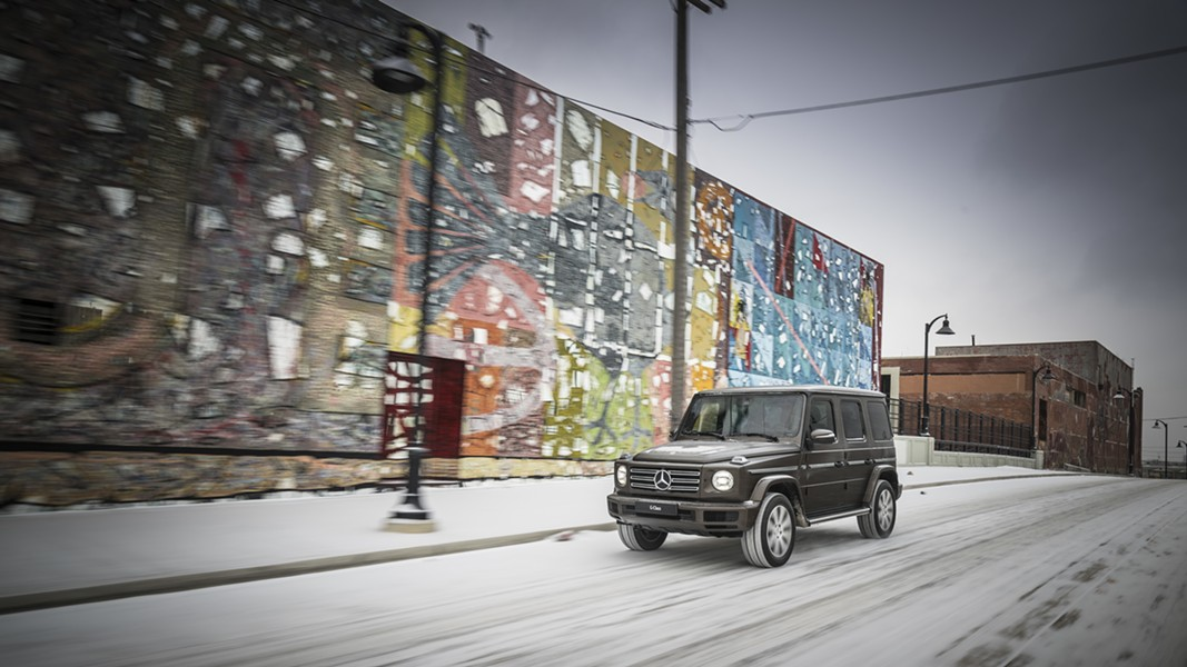 Photo used to promote the Mercedes G 500. - MERCEDES-BENZ