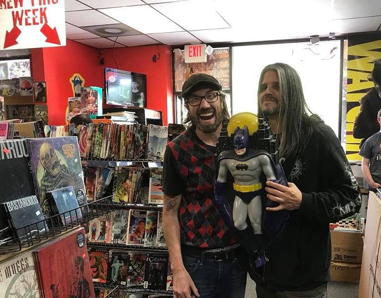 Adam Jones from TOOL snagging some goods. - COMICS & MORE FACEBOOK