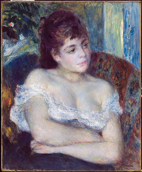 """Woman in an Armchair,"" 1874, Pierre-Auguste Renoir, French; oil on canvas. - COURTESY OF DETROIT INSTITUTE OF ARTS"
