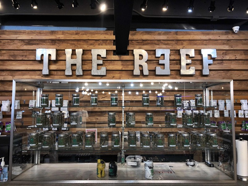 Newer state-licensed marijuana provisioning centers like Detroit's The Reef are a far cry from the fly-by-night storefronts from the early days of legalized marijuana in Michigan. - STEVE NEAVLING