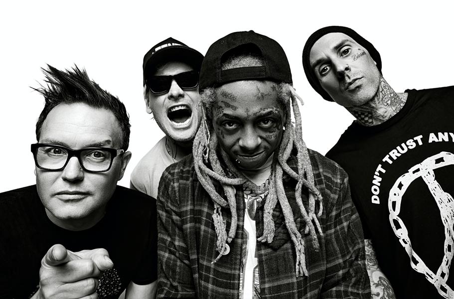 Blink 182 with Lil Wayne. - RANDALL SLAVIN