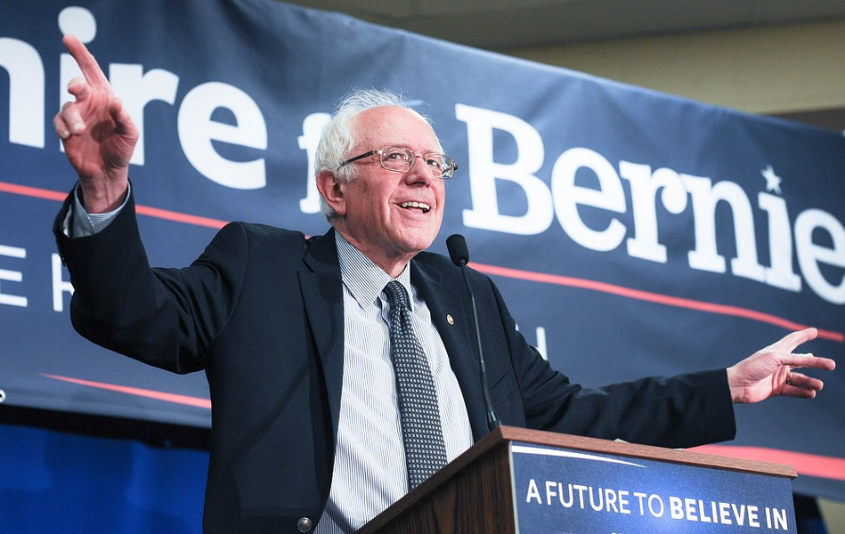 """Bernie Sanders' pro-pot stance gives """"Feel the Bern"""" a new meaning. - ANDREW CLINE / SHUTTERSTOCK.COM"""