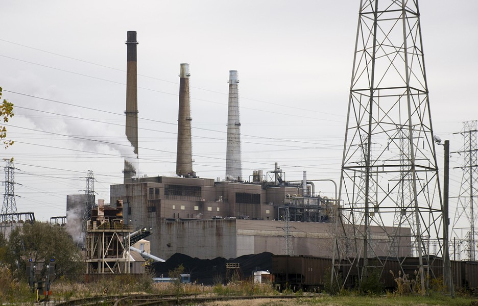 DTE Energy's particulate-belching coal plant in River Rouge. - TOM PERKINS