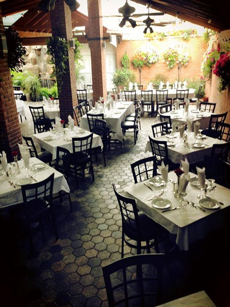 The patio at El Barzon. - FACEBOOK