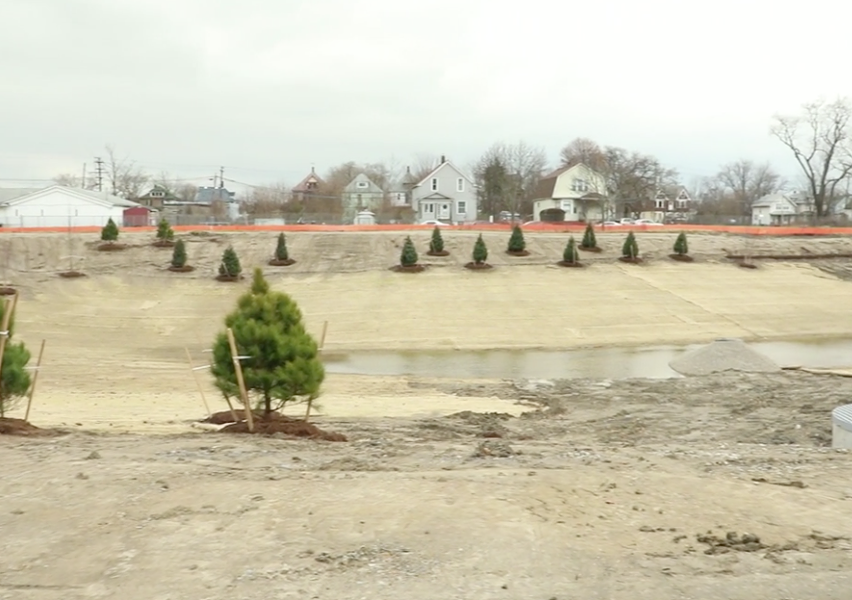 A new storm water park that will include a walking path, pollinator gardens, and an education pavilion. - FCA