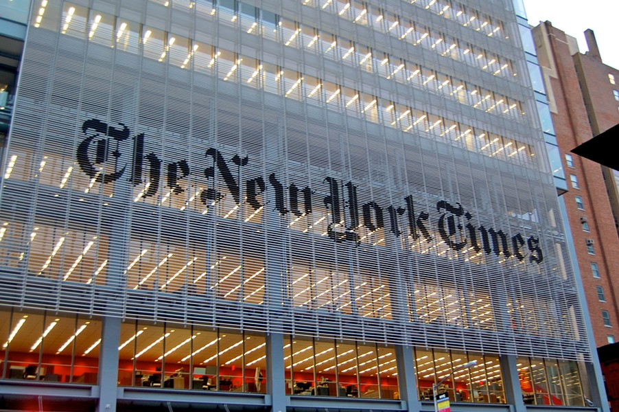 The New York Times building in New York, NY. - VIA WIKIMEDIA CREATIVE COMMONS.