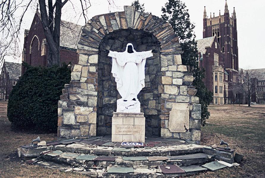 "The ""black Jesus"" at Sacred Heart Seminary in Detroit. - PHOTO COURTESY CAMILO JOSÉ VERGARA"