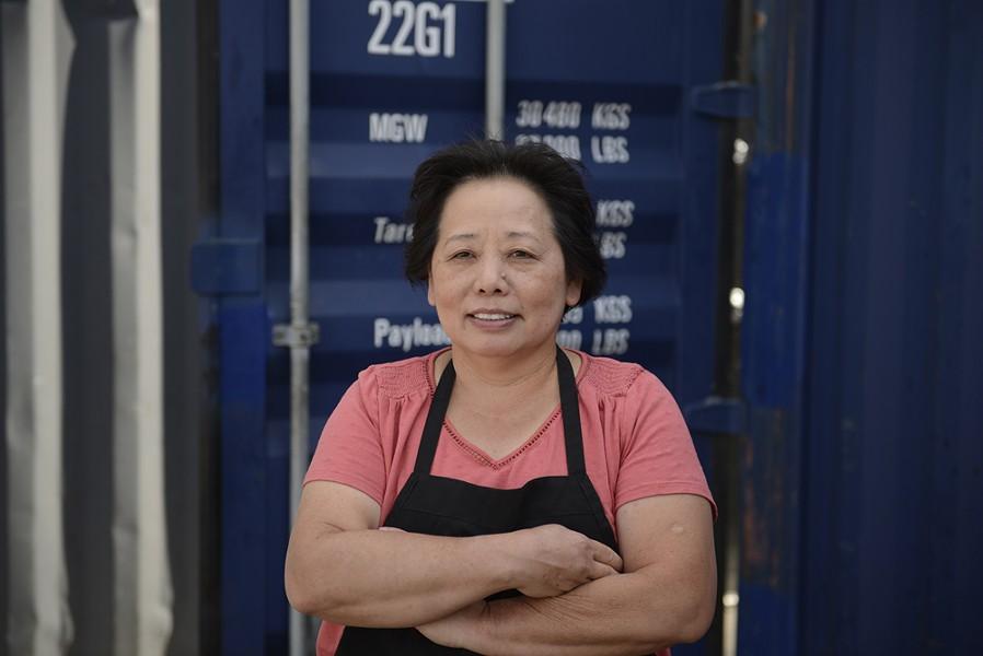 Chef Genevive Vang at Detroit Shipping Company's Bangkok 96 Street Food. - JERILYN JORDAN