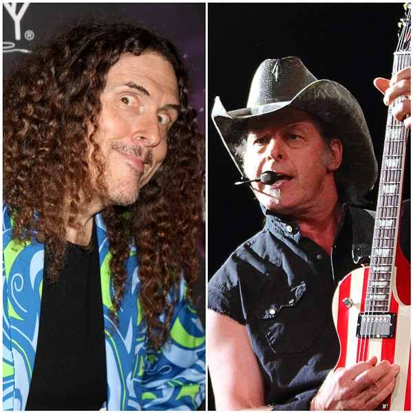"""""""Weird Al"""" and Ted Nugent. - KATHY HUTCHINS AND DOUG JAMES/SHUTTERSTOCK.COM"""