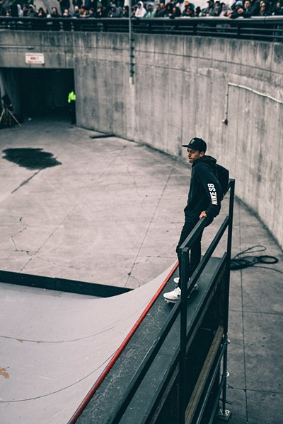 The 2016 Hart Lines winner, and one of the best to ever do it on a skateboard, Nyjah Huston. - PHOTO: CHRIS MOLLON (@PHOTOVENTUREBOY)