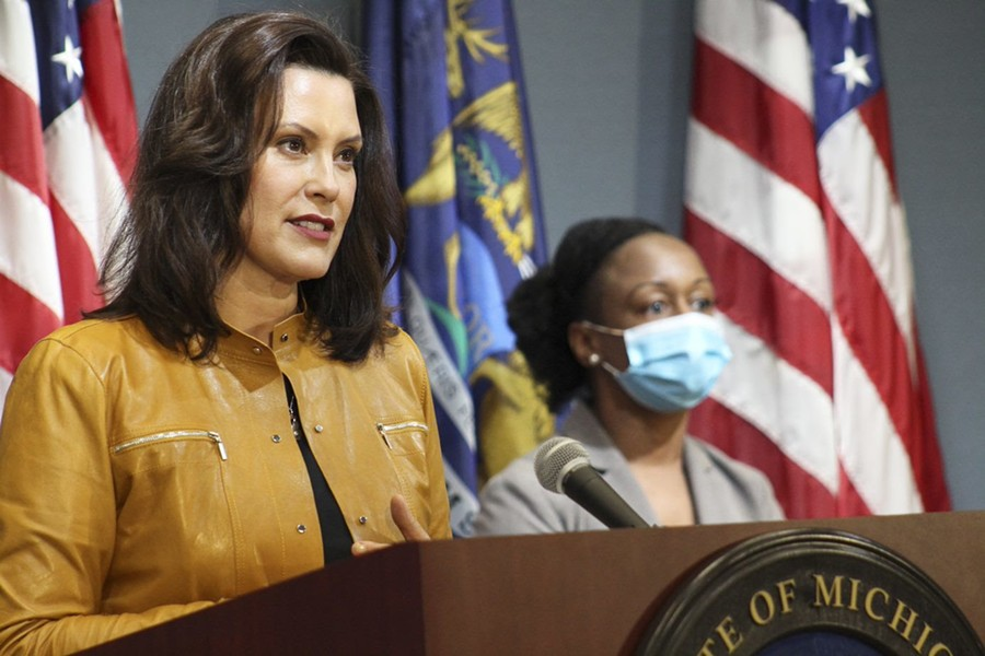 Gov. Gretchen Whitmer, left, and Dr. Joneigh Khaldun, the chief medical officer for MDHHS. - COURTESY OF GOV. WHITMER'S OFFICE