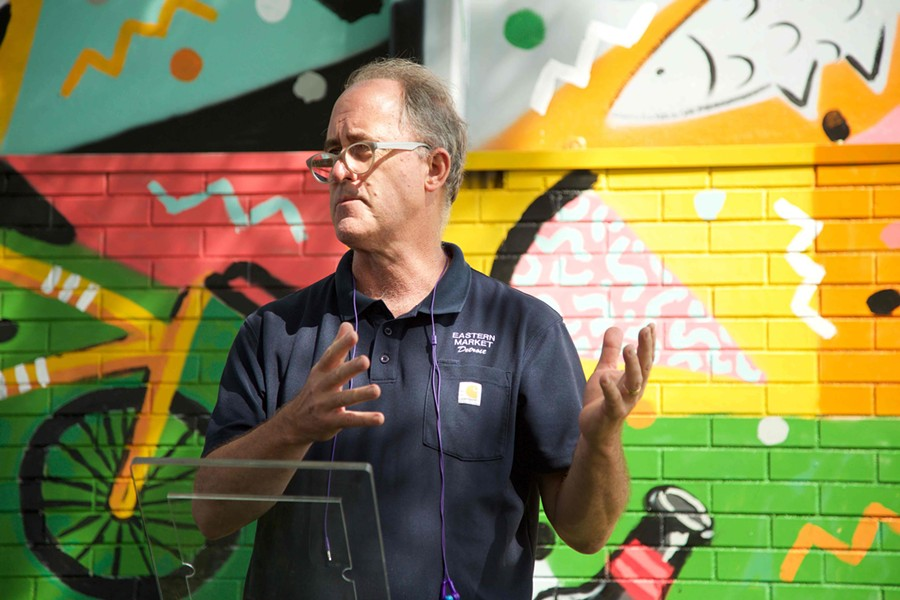 Eastern Market President Dan Carmody at Tuesday's Murals in the Market announcement. - COURTESY PHOTO