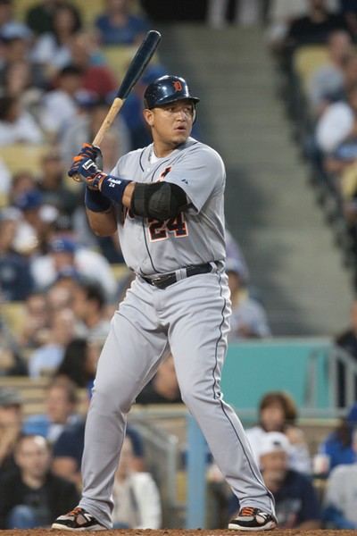 Tigers 1B Miguel Cabrera drove in two runs with a single in the 5th inning. - CREDIT: PHOTO WORKS / SHUTTERSTOCK.COM