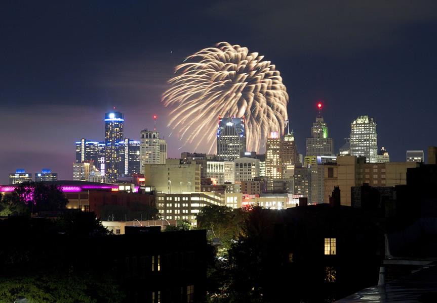 Detroit's annual Ford Fireworks show in 2019. - STEVE NEAVLING