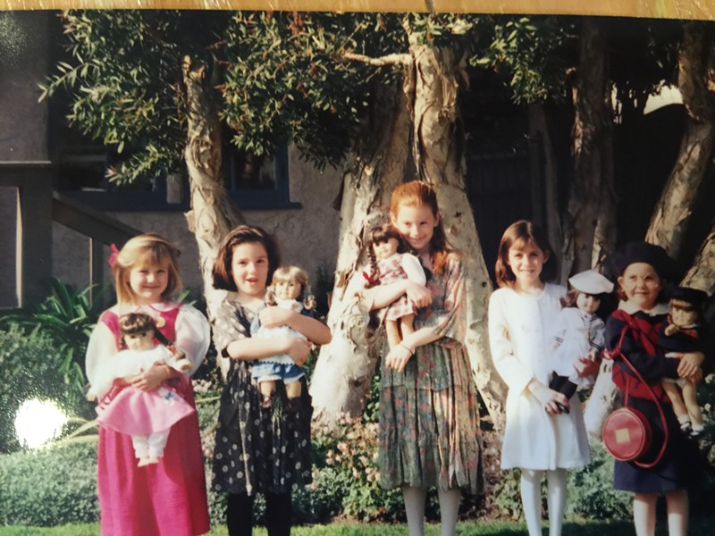 This author (second from right) with a gaggle of American Girl fanatics in 1996.