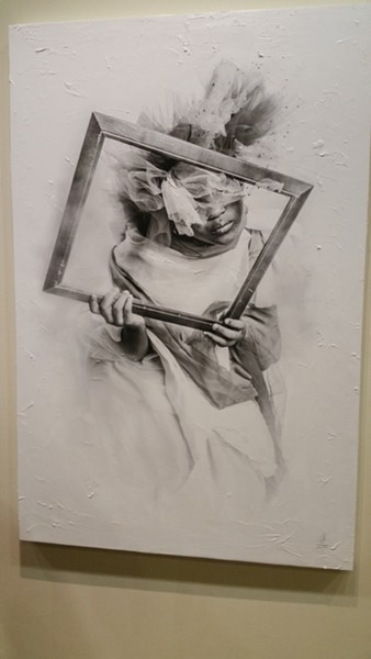 """""""FRAMED THOUGHTS II"""" (MIXED MEDIA) BY ACKEEM SALMON"""