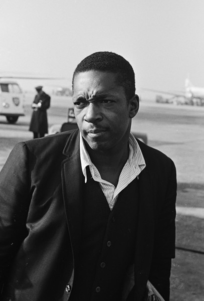JOHN COLTRANE IN 1963. PHOTO FROM WIKIPEDIA.