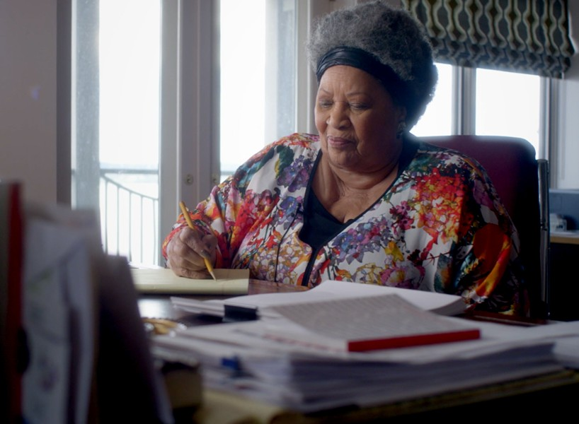 Toni Morrison at work. - TIMOTHY GREENFIELD-SANDERS