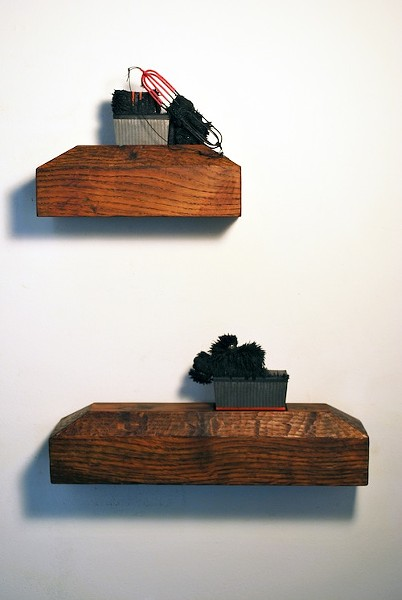 "Sharon Que, ""Between Sea and Sky 1 & 2"" - COURTESY JANICE CHARACH GALLERY"