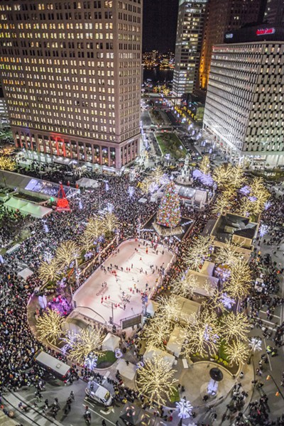 Christmas Tree Lighting @ Campus Martius. Courtesy photo.