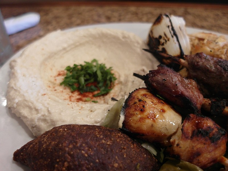 A combo plate at the award-winning Al Ameer restaurant in Dearborn. - PHOTO BY SERENA MARIA DANIELS