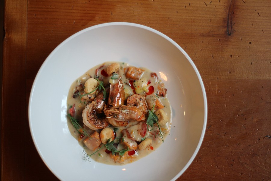 Michigan shrimp chowder from Chartreuse. - PHOTO BY RYAN PATRICK HOOPER.