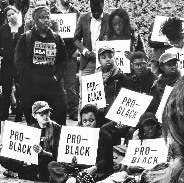 EMU students protest. - PHOTO COURTESY DAQUANN HARRISON