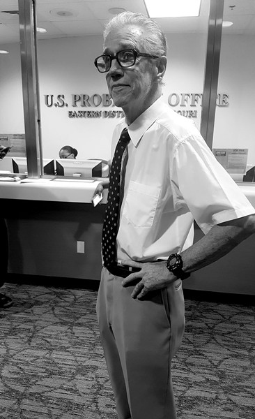 McNally awaits a meeting with a parole supervisor inside the federal probation office in St. Louis in August 2016. - DANNY WICENTOWSKI