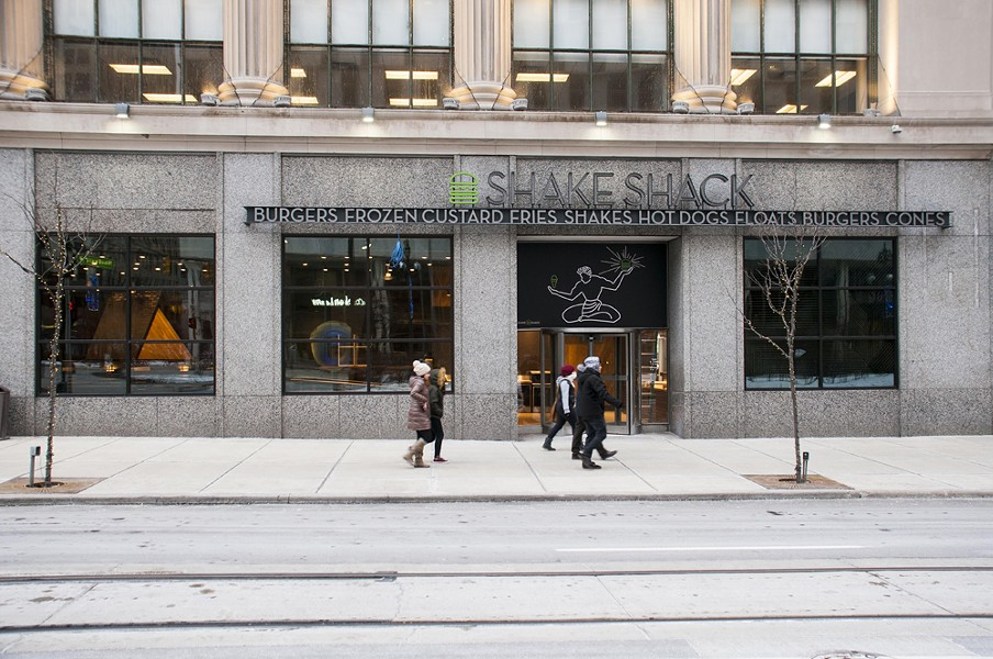 Shake Shack's downtown Detroit location, slated to open soon.