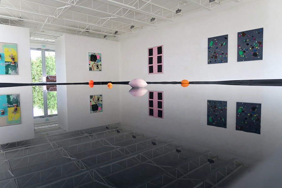 "Artist and Cranbrook graduate Ivin Ballen's ""Reflecting Pool,"" 32 x 20 feet, 2015. - COURTESY SUSANNE HILBERRY GALLERY"