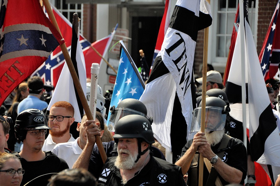 White nationalists and counter protesters clash in Charlottesville in 2017. - KIM KELLEY-WAGNER, SHUTTERSTOCK