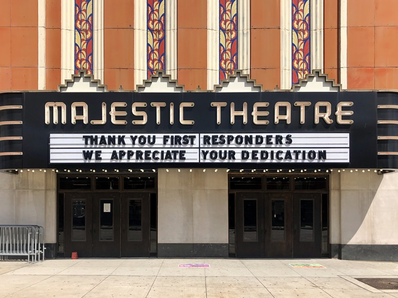 The marquee of the Majestic Theatre in Detroit. - STEVE NEAVLING