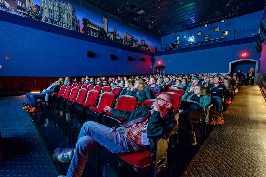 Ann Arbor Film Festival screening room. - DOUG COOMBE