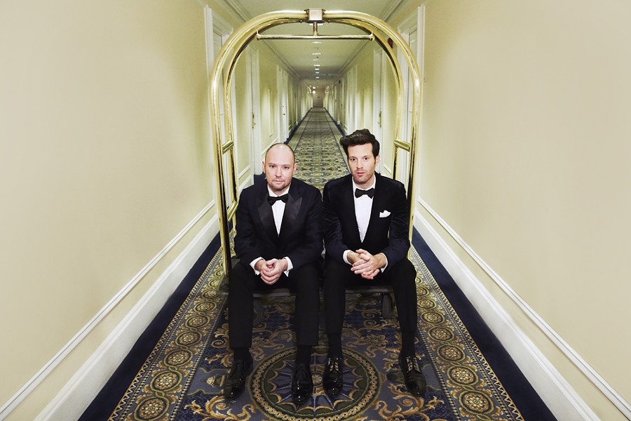 Jake One and Mayer Hawthorne are Tuxedo. - DOUG COOMBE