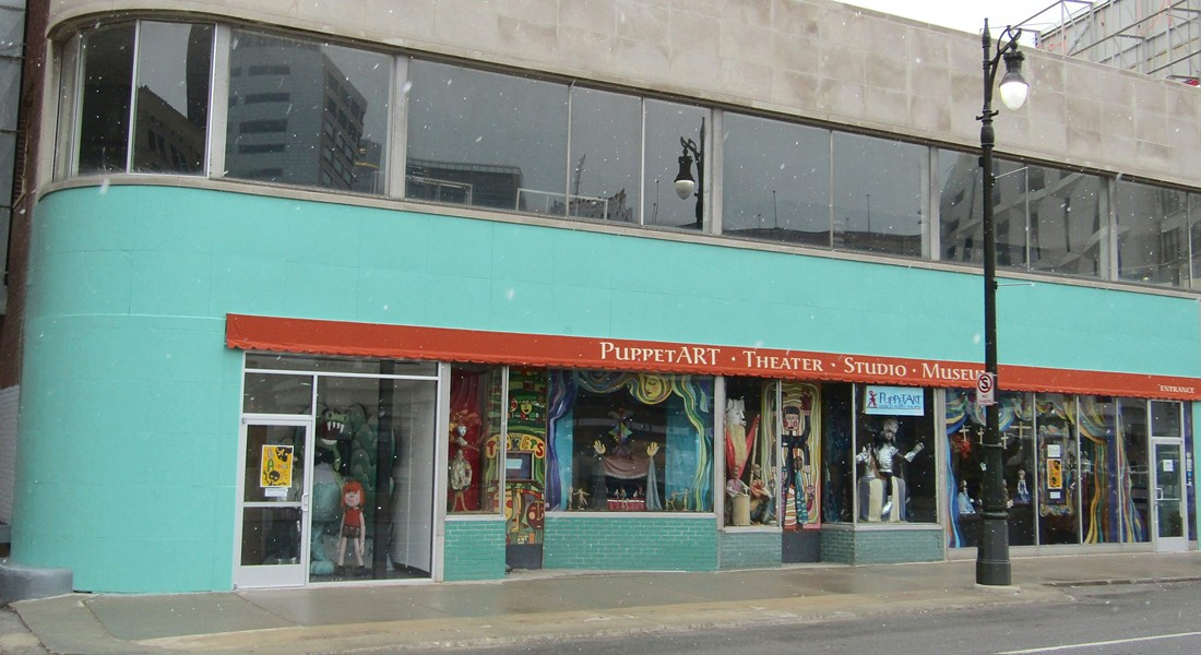 PuppetART theatre on 25 E. Grand River in downtown Detroit. - FACEBOOK