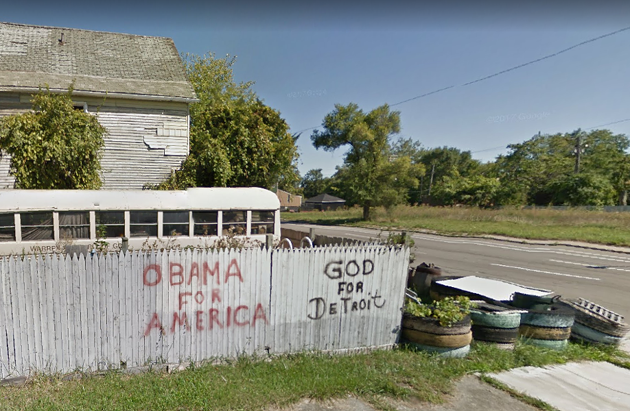 The Elmwood Fence, Sept. 2013. - GOOGLE STREET VIEW