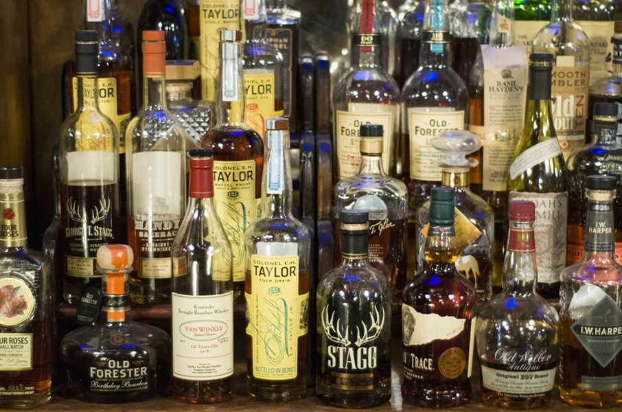 The Painted Lady's whiskey selection - TOM PERKINS