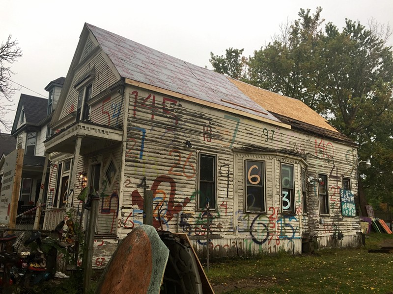 """The Heidelberg Project's """"Numbers House"""" is undergoing renovation. - COURTESY PHOTO - HEIDELBERG PROJECT"""
